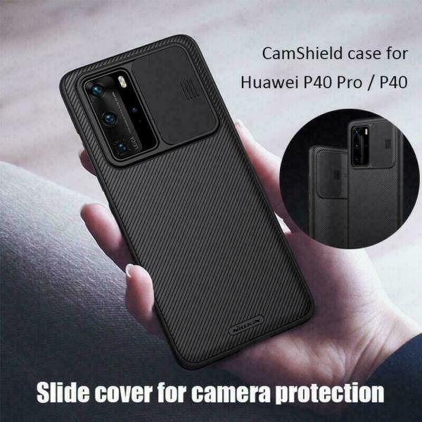För Huawei P40 Pro P40 CamShield-fodral Kameraskydd