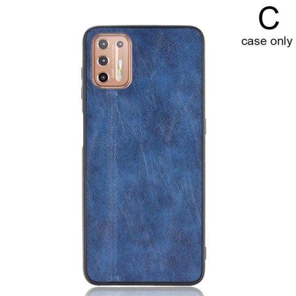 För Motorola Moto G9 Plus Luxury Shockproof Hybrid Soft Leather