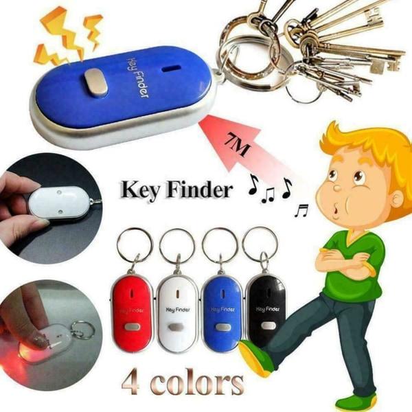 LED-lampa Fjärrkontroll Ljudkontroll Lost Key Finder Locator E Pink