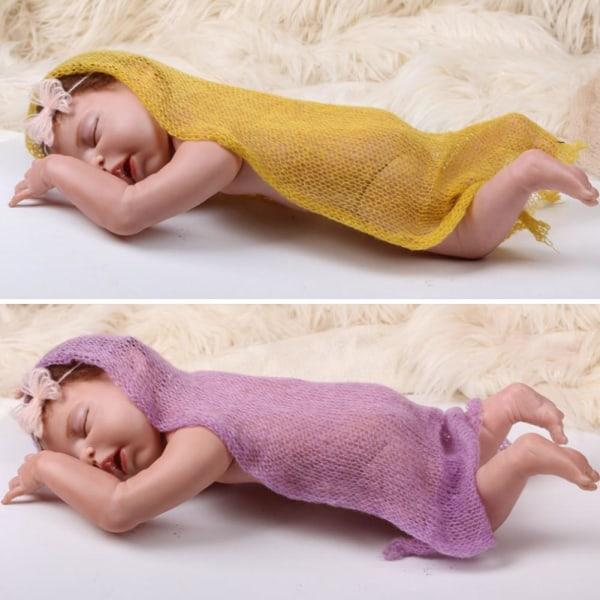 Nyfödda pojkar & flickor Stretch Wrap Baby Photography Photo Pr