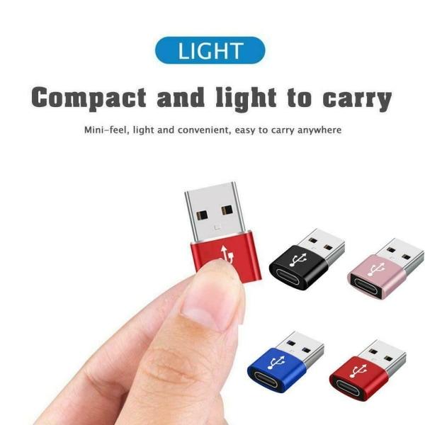 USB 3.0 typ A hane till USB 3.1 typ C honkontaktadapter