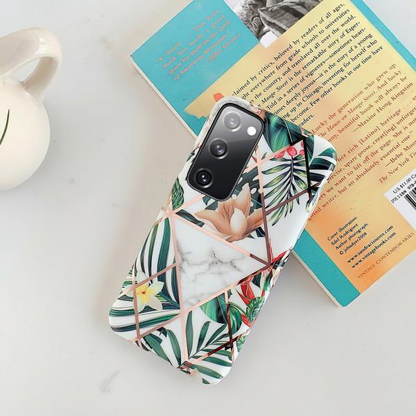 Samsung Galaxy S20 FE - Skal / Skydd / Geometriskt Vit
