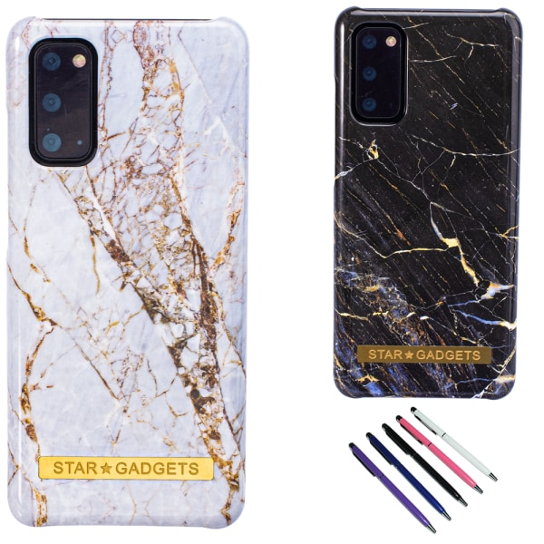Samsung Galaxy S20 - Skal / Skydd / Marmor Vit