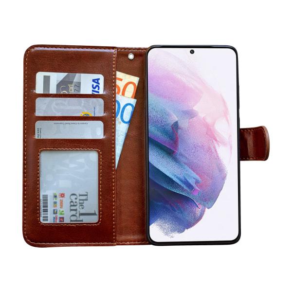 Samsung Galaxy S21 - Läderfodral / Skydd Brun