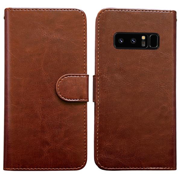 Samsung Galaxy Note 8 - Läderfodral / Plånbok Svart