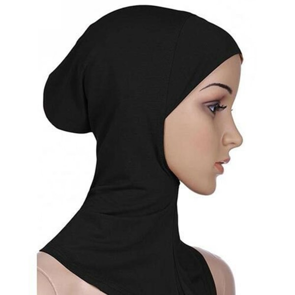 Heltäckande Hijab Cap Underscarf Neck Head Brun