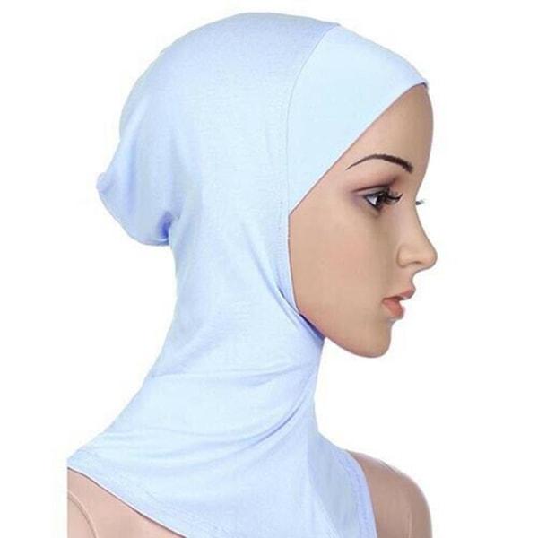 Heltäckande Hijab Cap Underscarf Neck Head Vit