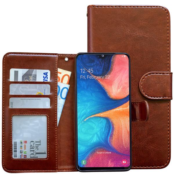 Samsung Galaxy A10 - Läderfodral / Skydd Rosa