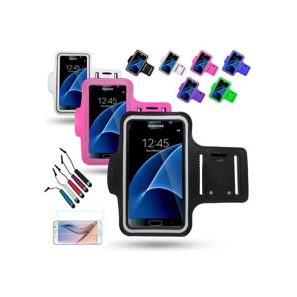 Sportarmband Samsung Galaxy S7 Edge + 3 i 1 Kit Grön