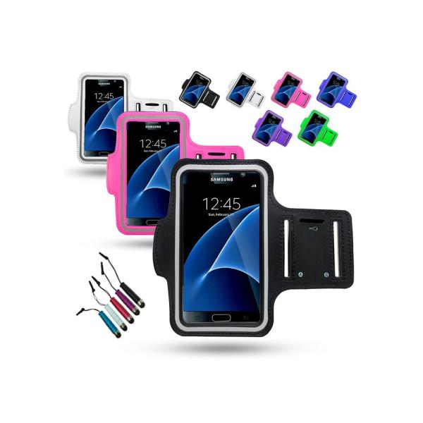 Sportarmband Samsung Galaxy S7 Edge + Touchpenna Vit