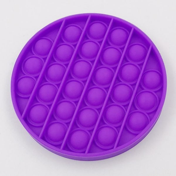 Bubble Pop It Fidget Leksaker - Runda Blå