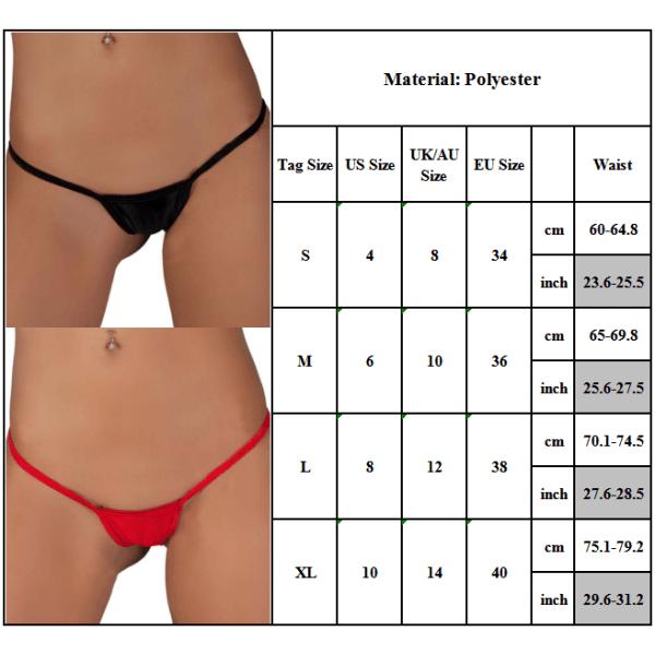 Kvinnors sexiga mini-string Micro G-string underkläder Black S