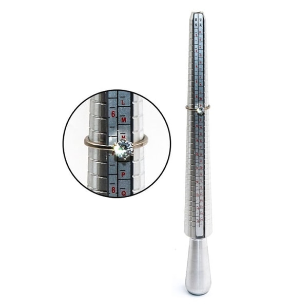 Ring Sizer Spindel Stick Finger Gauge Kit Ring Sizer Stick