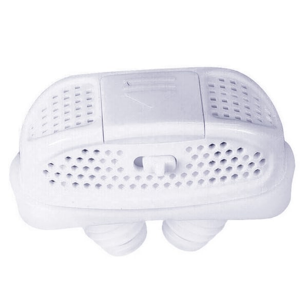 Mini-CPAP Anti Snarking Device Stop Snore Stopper Nose-Machine White