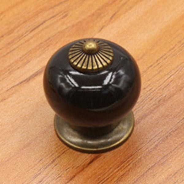 1 - 10 ST Retro dörrhandtag i enfärgad färg Black 6 PC