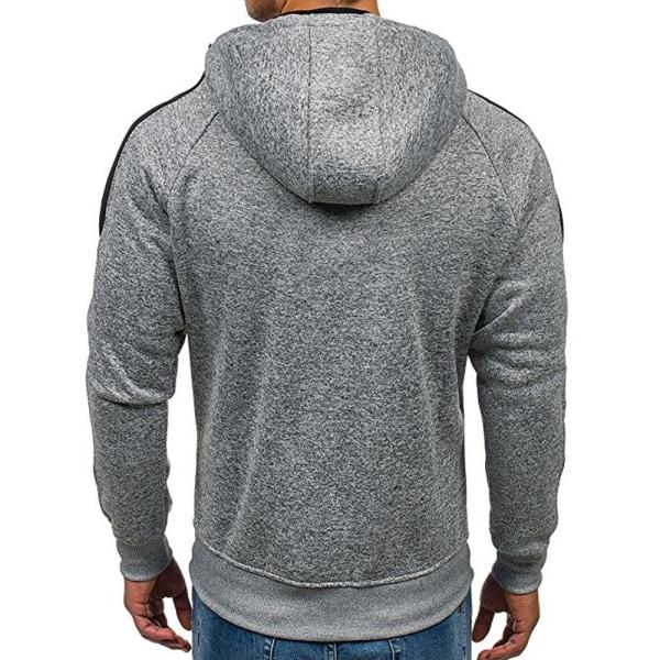 Vinterfärgad jacka med full blixtlås för män Dark gray M
