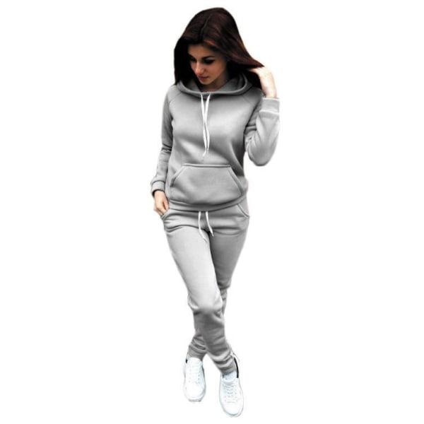 Höst Damfickor Hood Träningsoverall Streetwear Pink M