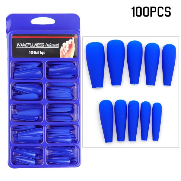 Full Cover Kista False Nail Tips Fake Nails Manikyr UV Gel Blue