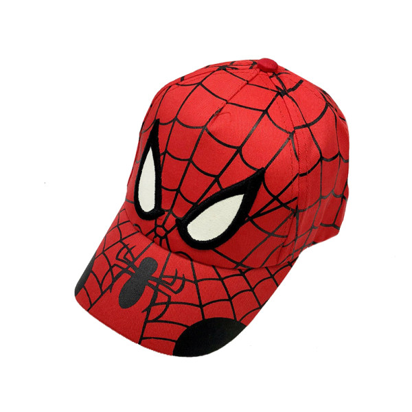 Spiderman Print Mode Barn Peacked hattar Red