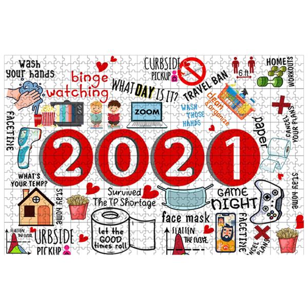 2021 Pussel 1000-bitars nyårs pusselspel gåvor