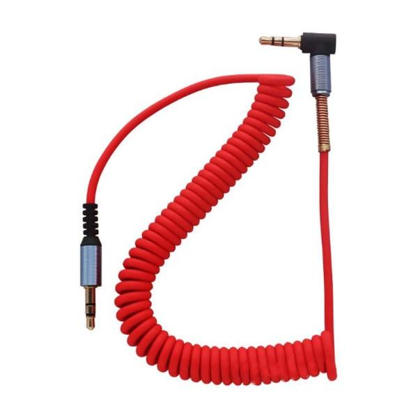3 5 mm Jack Audio-kabel till 90 graders rätvinklig Aux-kabel Red