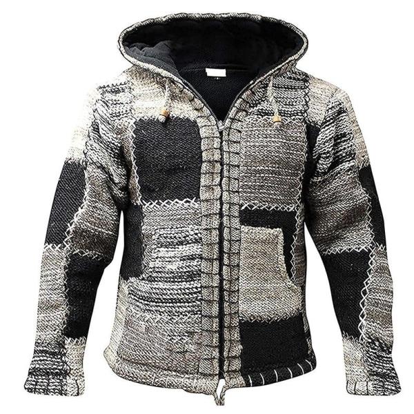 Hippie Hoodie Fleece Zip Coat Cardigan Jacka Outwear Toppar 2XL