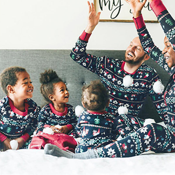Julpyjamas Set Boy Girl Baby Mamma Dad Nightwear Kid Kid 4T