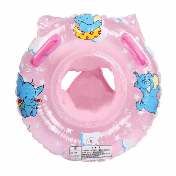 Uppblåsbar badring simbassäng flytande vattensäte Pink