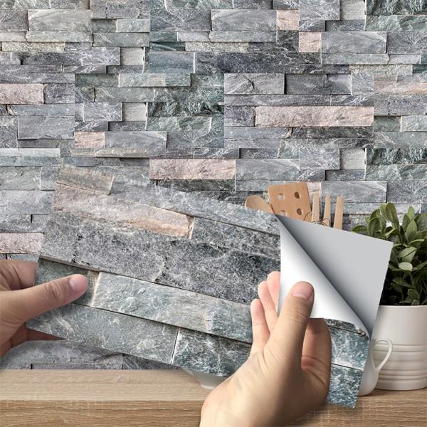 36: e 3D Mosaic Stickers Kitchen Tile Stickers Självhäftande 36 pcs