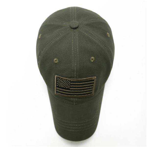 Amerikansk Flaggarmé Baseball Hattar för Män Utomhus Casual Cap Army Green
