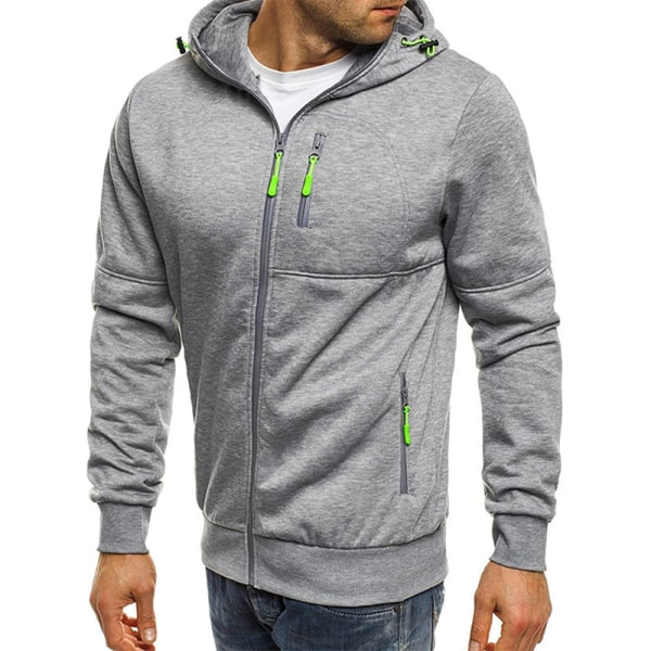 Man Hoody Fleece Warm Hoodies Jacka Coat Sweatshirt Jumper Black M