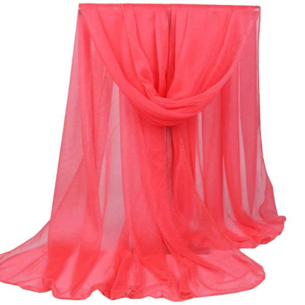 Ladies Long Plain Shawl Scarf Wrap Style Casual Scarf watermelon red