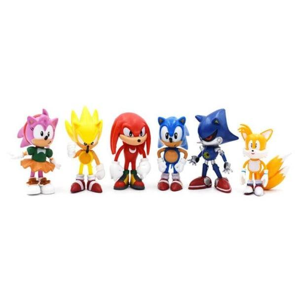 6-st Sonic Classic The Hedgehog PVC Action Figure Model Kids