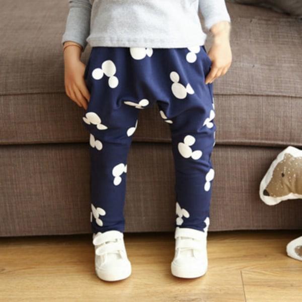 Boys Girls Mickey Mouse Harem Pants Byxor Sweatpants Black 120