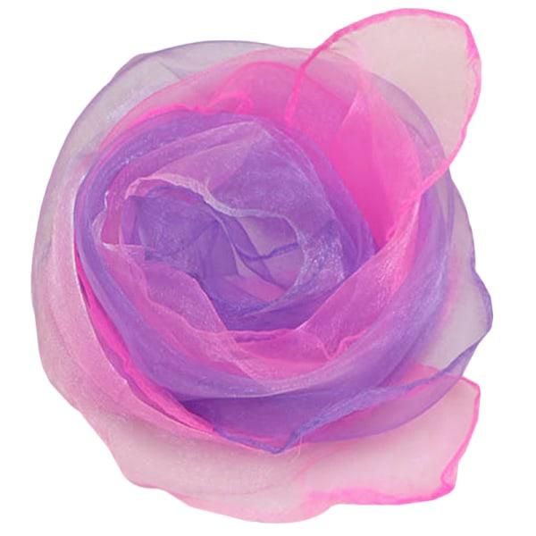 Gradient lätt kläd upp silkescarf pink purple