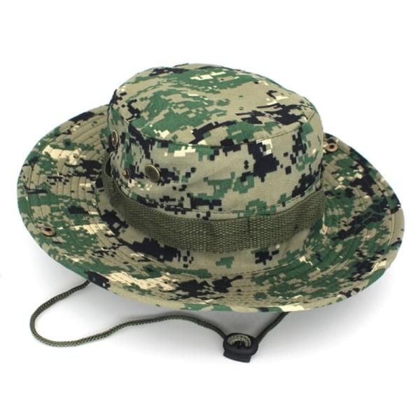 Män Casual Mössor Bred Rand Cap Militär Camo Hattar Army Green - Digital Camo