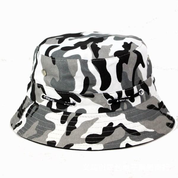 Mäns snygg kamouflagehandfat Mössor Fiske Visir Sun Cap Grey - White