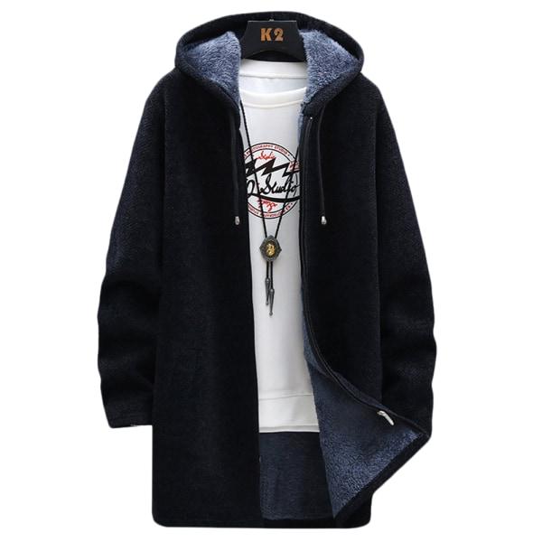 Cardigan-tröja för män Black 3XL
