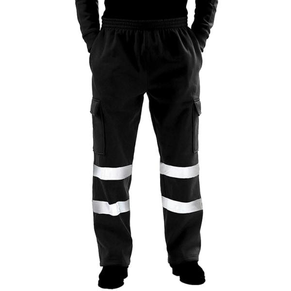 Hej Vis Säkerhetsväst Hög synlighet Säkerhetsreflekterande byxor # 4 Black 4XL