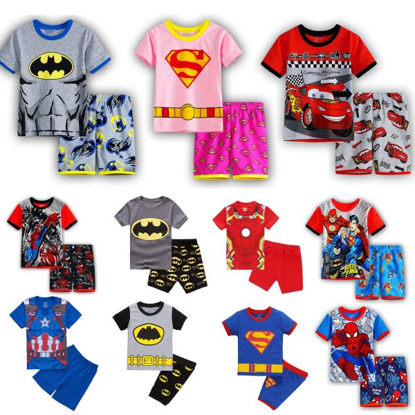 Pojkar Flickor Bat Man Pyjamas Sätter Outfits Sleepwear 130