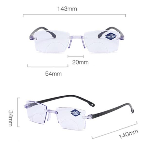 Vik Anti-blått Progressivt långt / nära dubbla läsglasögon 150 degrees