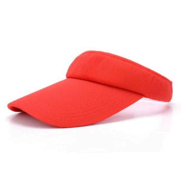 Herr Dam Visir Solhatt Golf Tennis Cap Justerbart Huvudband Red