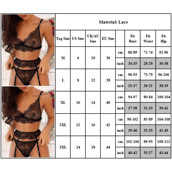 Kvinnors sexiga Babydoll Strumpeband G-strängar underkläder XL