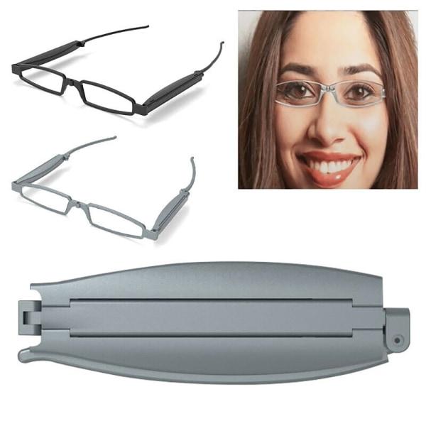 Vikbara fickglasögon Unisex kvinnor män läsglasögon Black - 250�� 1 Pack