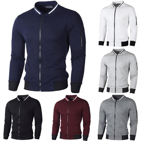 Herr höstjacka med dragkedja, cardigan, jackor, topp Dark Blue XL
