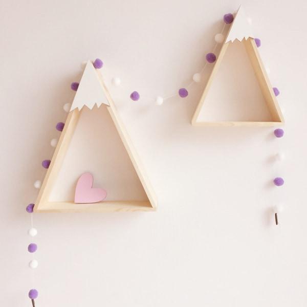 2M Rum Dekoration Päls Ball String Ornament Pink-Purple