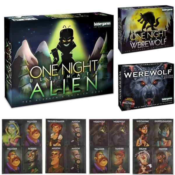 One Night Alien Werewolf Ultimate Werewolf Board Game one night