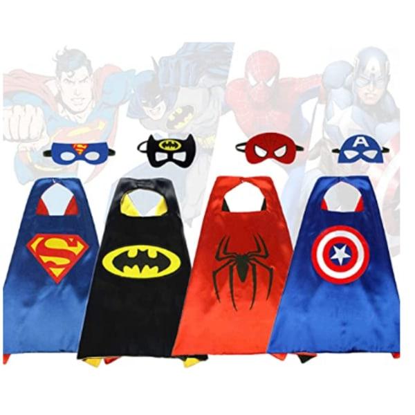 Superhero Capes + Eye Mask Kids Cool Halloween Costume Cosplay pink Superman Cloak + eye mask