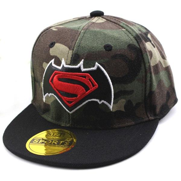 Pojkflickor tecknad basebollkeps Superhero Snapback huvudbonader Batman