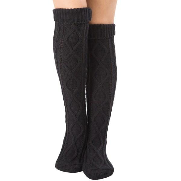 Kvinnor randiga över knäet Lår Höga strumpor Långa strumpor # 2-Black
